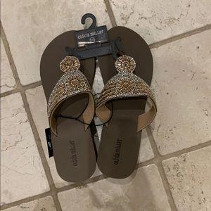 Olivia Miller brown platform sandals